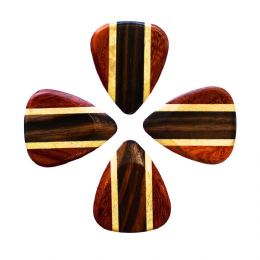 Zone Tones Deluxe African Ebony 4 Guitar Picks